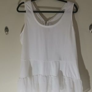 Lane Bryant tiered tank top with back zipper